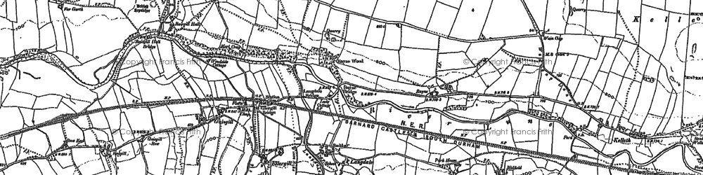 Old map of Whitefold Moss in 1900