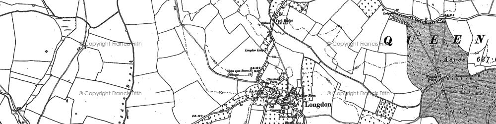 Old map of Longdon in 1903