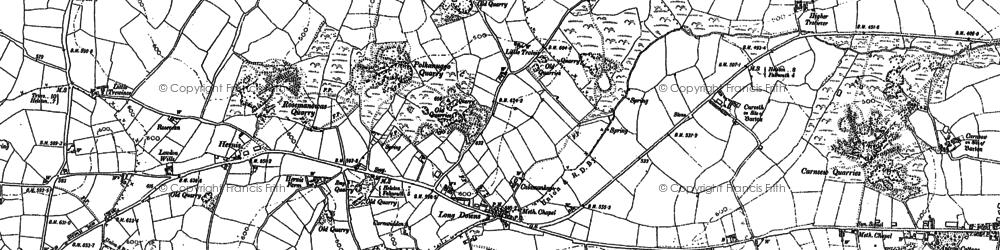 Old map of Longdowns in 1878