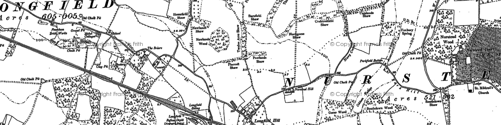 Old map of Longfield Hill in 1895