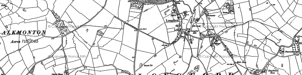Old map of Bailey's Close in 1880