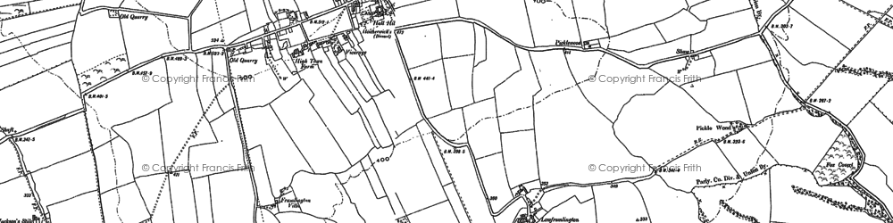 Old map of Todstead in 1896