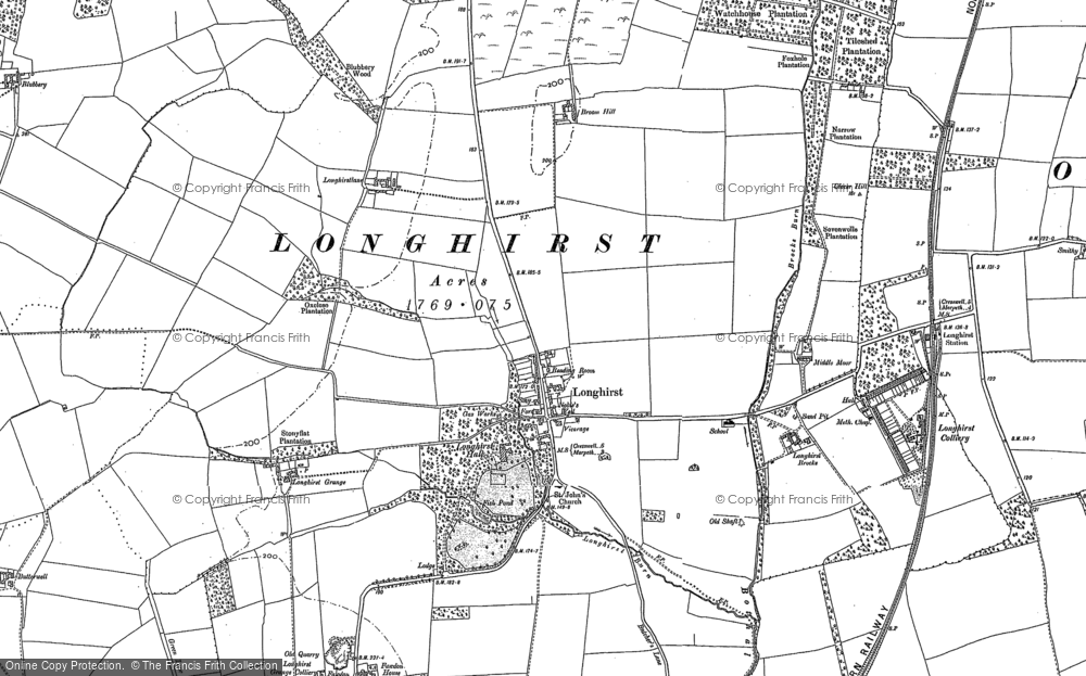 Map of Longhirst, 1896