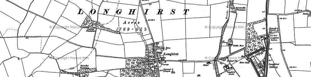 Old map of Longhirst in 1896