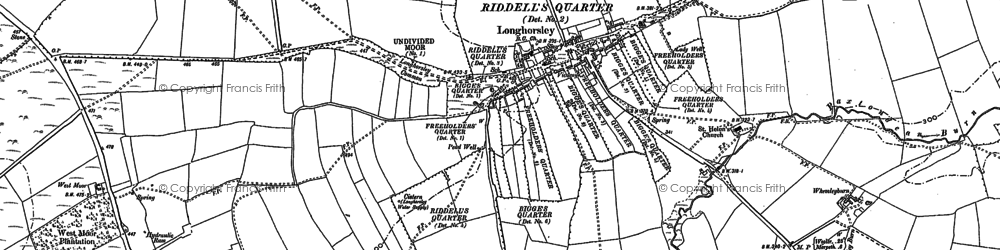 Old map of Todburn Moor in 1896