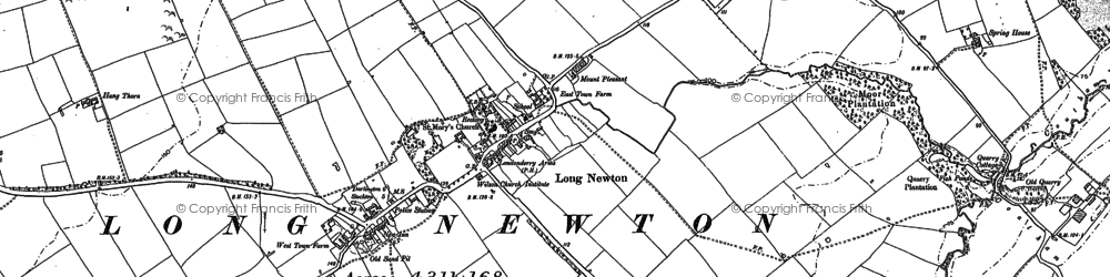 Old map of Larberry Pastures in 1913