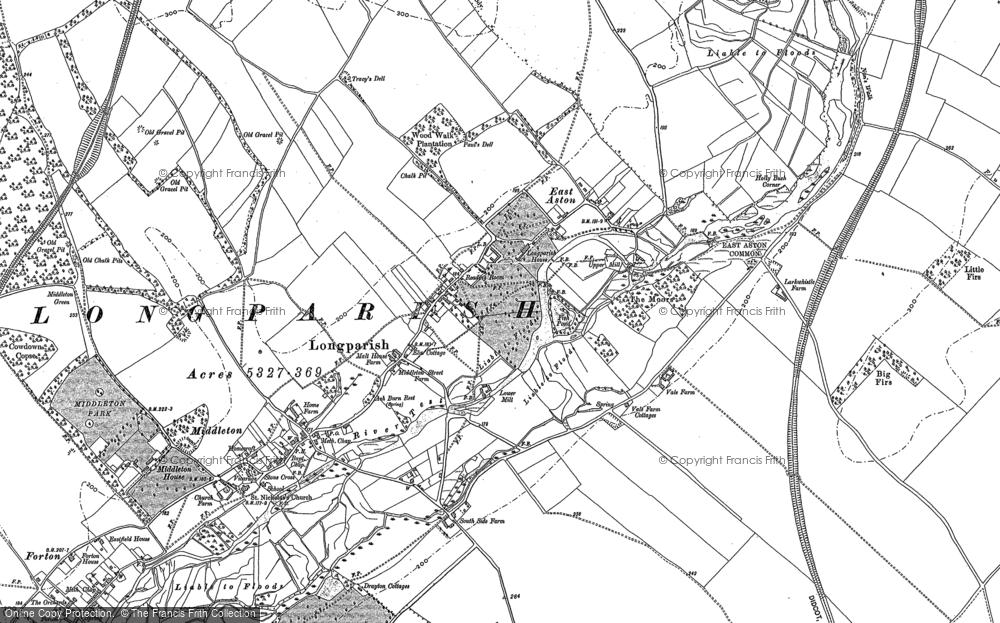 Map of Longparish, 1894