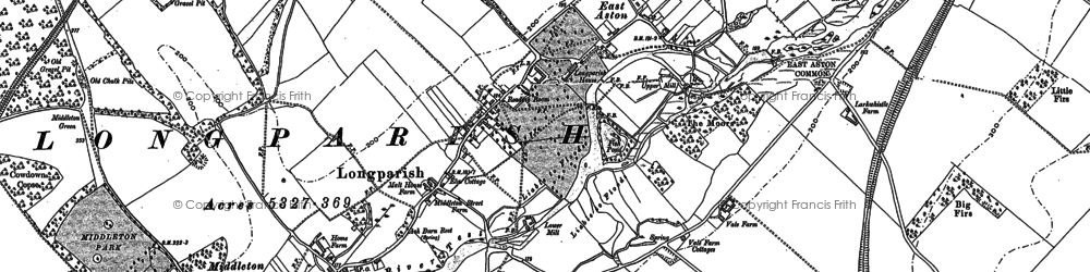 Old map of Longparish in 1894