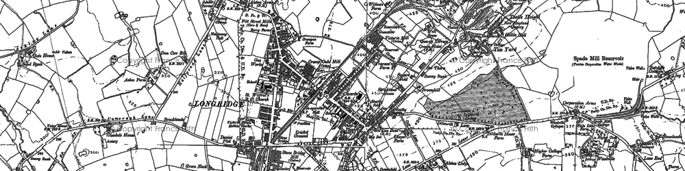 Old map of Ashley Hall in 1892