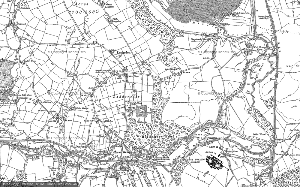 Old Map of Historic Map covering Bank End in 1879