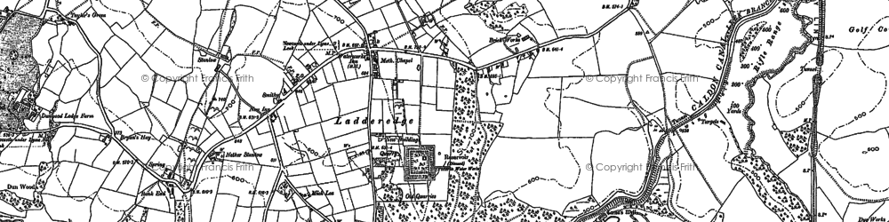 Old map of Bank End in 1879