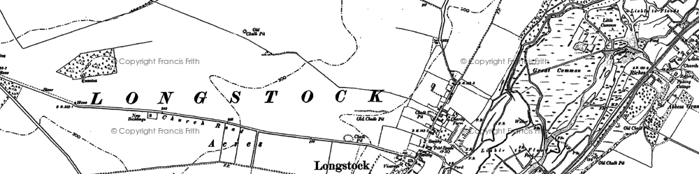 Old map of Atners Towers in 1894