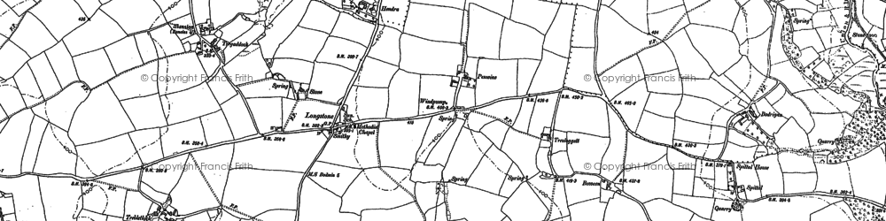 Old map of Longstone in 1880