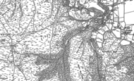 Old Map of Longstone Hill, 1886