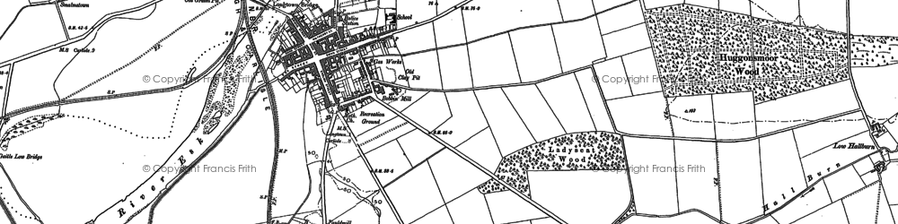 Old map of Longtown in 1900