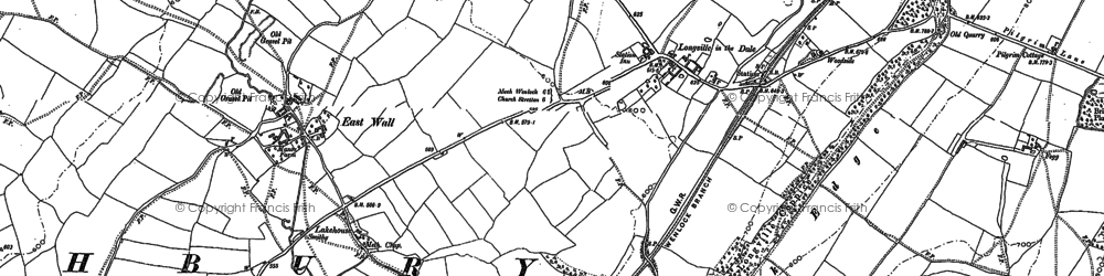 Old map of Wilderhope Manor in 1882