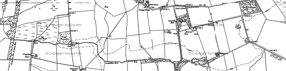 Old map of Whitridge in 1896