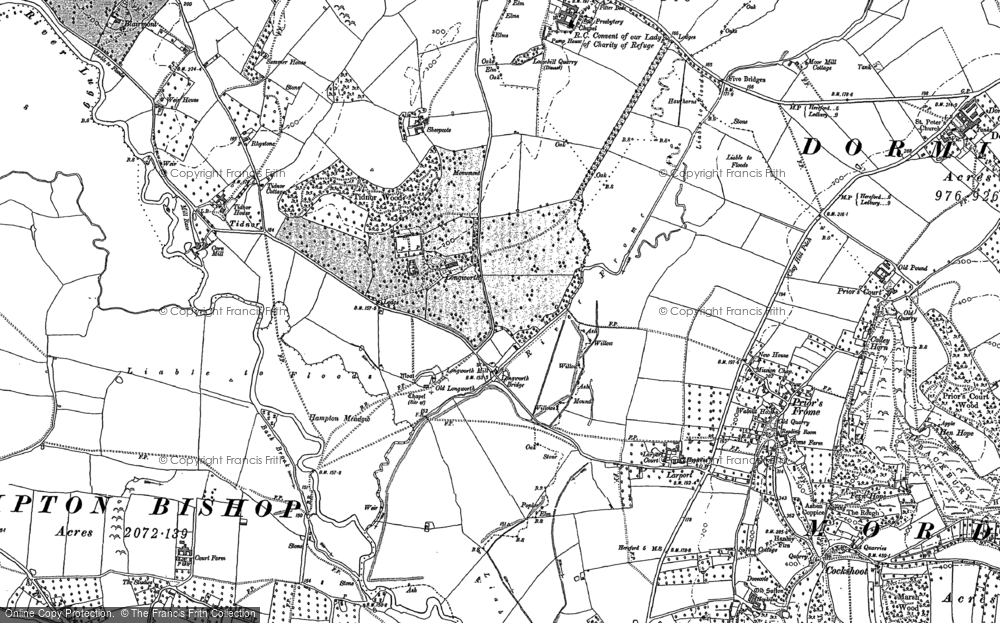 Old Map of Historic Map covering Tidnor in 1886