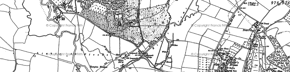 Old map of Tidnor in 1886