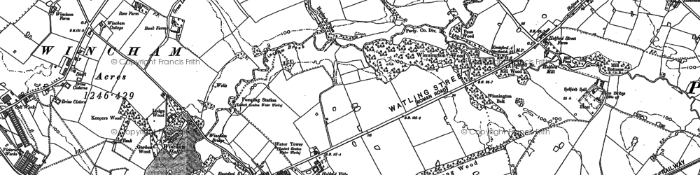 Old map of Wincham Brook in 1897
