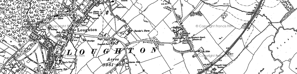Old map of Woodbury Hollow in 1895