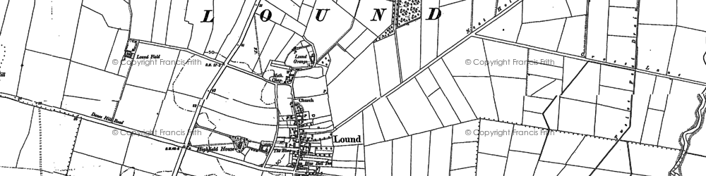 Old map of Ling Hurst Lakes in 1885
