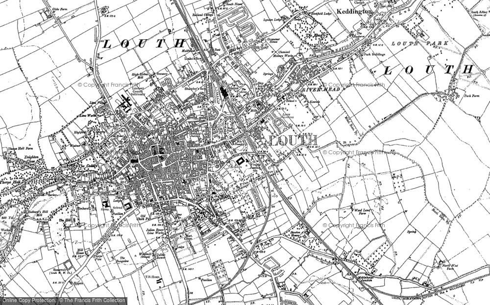 Old Map of Louth, 1886 in 1886