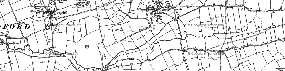 Old map of Wheathill in 1885