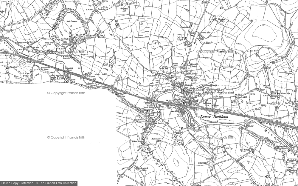 Old Map of Low Bentham, 1907 in 1907