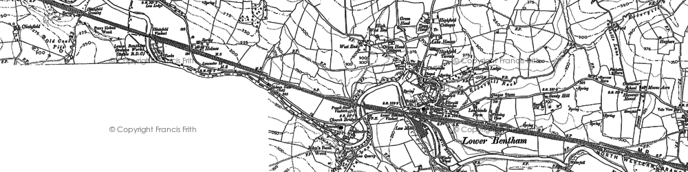 Old map of Low Bentham in 1907