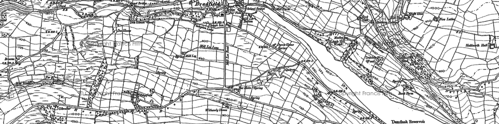 Old map of Agden Resr in 1890