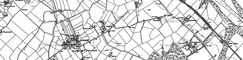 Old map of Wrayside in 1899