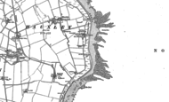 Old Map of Low Hauxley, 1896