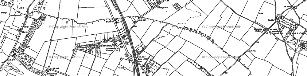 Old map of Leapgate in 1883