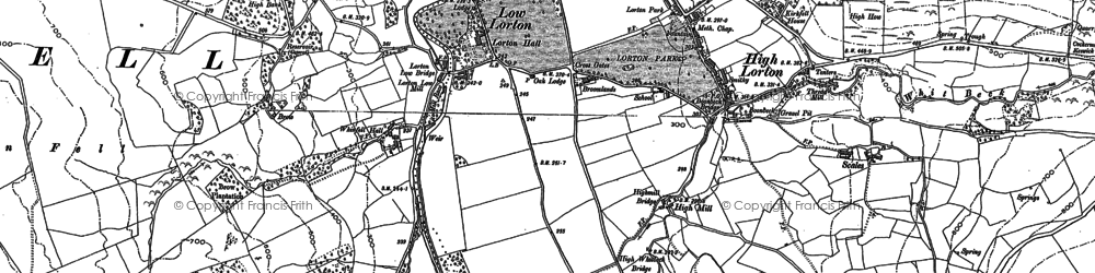 Old map of Whinfell Hall in 1898
