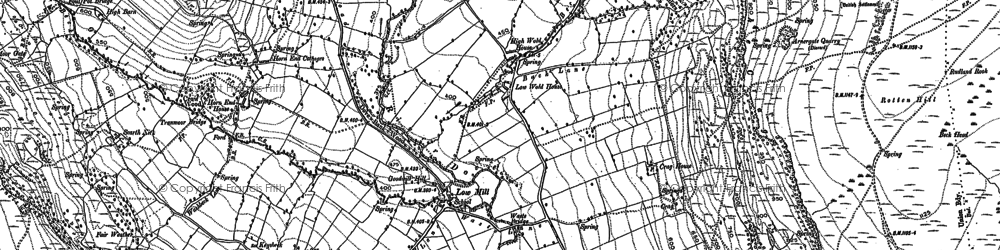 Old map of Woodstock Bower in 1891