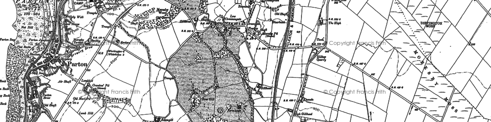 Old map of Tivoli in 1923