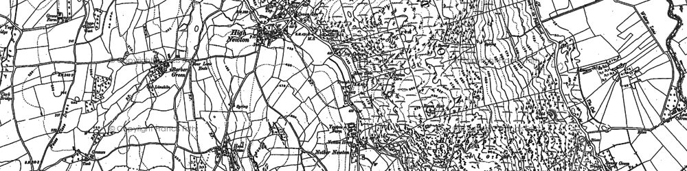Old map of Barber Green in 1911