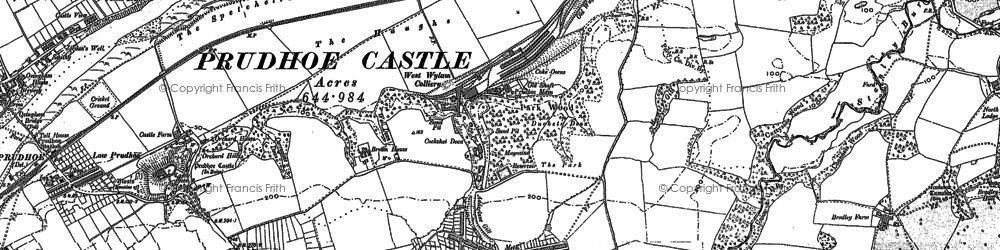 Old map of West Wylam in 1914