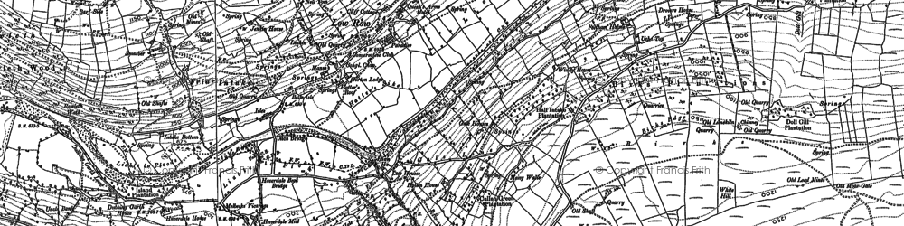 Old map of Aberdene Tarn in 1892