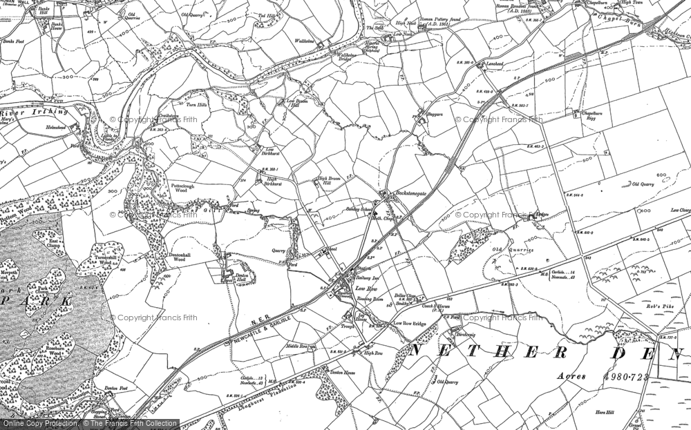 Old Map of Historic Map covering Baggarah in 1899
