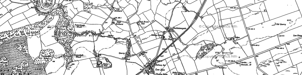 Old map of Baggarah in 1899