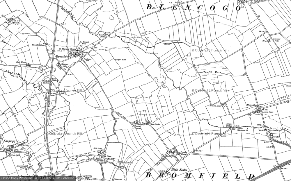 Old Map of Historic Map covering Leegate Ho in 1899