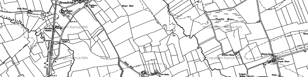 Old map of Leegate Ho in 1899