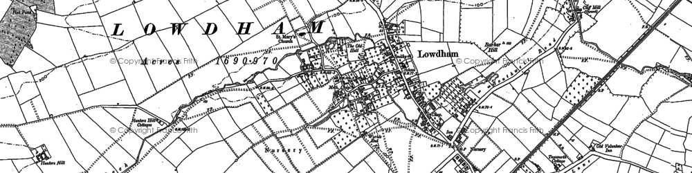 Old map of Barker Hill in 1883