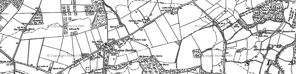Old map of Lower Beeding in 1896