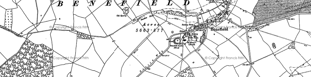 Old map of Banhaw Wood in 1884