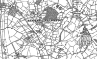 Old Map of Lower Bentley, 1883 - 1903