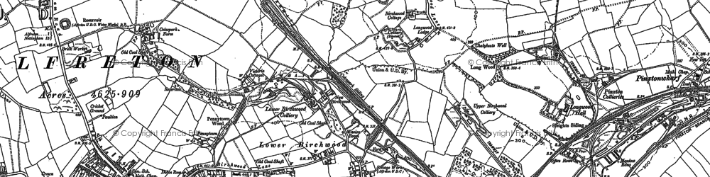 Old map of Upper Birchwood in 1879