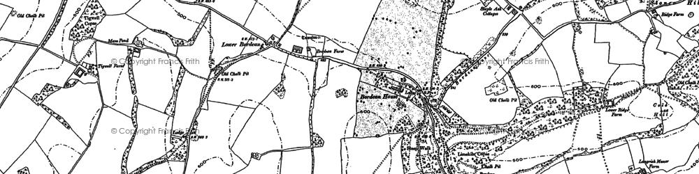 Old map of Froxfield Green in 1895